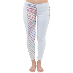 Line Wave Rainbow Classic Winter Leggings