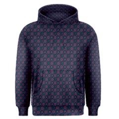 Purple Floral Seamless Pattern Flower Circle Star Men s Pullover Hoodie