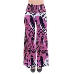 Octopus Colorful Cartoon Octopuses Pattern Black Pink Pants
