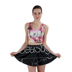 Sea Sugar Line Black Mini Skirt