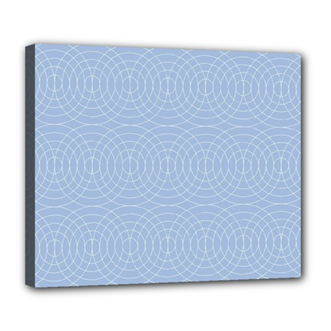 Seamless Lines Concentric Circles Trendy Color Heavenly Light Airy Blue Deluxe Canvas 24  X 20