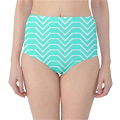 Seamless Pattern Of Curved Lines Create The Effect Of Depth The Optical Illusion Of White Wave High Waist Bikini Bottoms