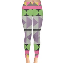 Shapes Patchwork Circle Triangle Leggings