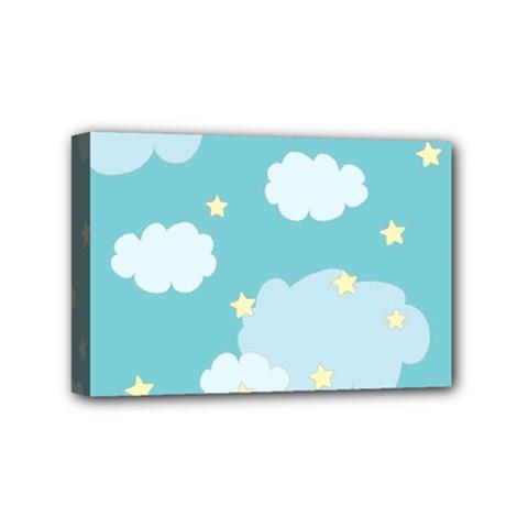 Stellar Cloud Blue Sky Star Mini Canvas 6  X 4
