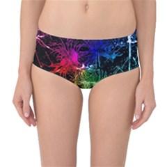 Color Fun 03b Mid Waist Bikini Bottoms