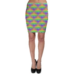 Painted Rainbow Pattern Bodycon Skirt