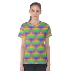 Painted Rainbow Pattern Women s Cotton Teecotton Tee
