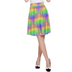 Painted Rainbow Pattern A-Line Skirt