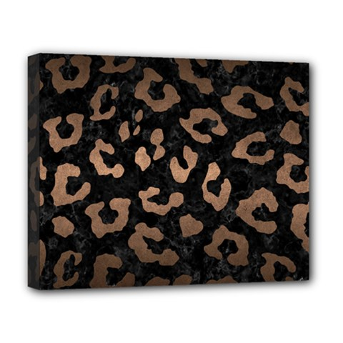 Skin5 Black Marble & Bronze Metal (r) Deluxe Canvas 20  X 16  (stretched)
