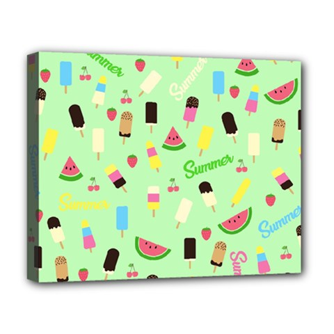 Summer Pattern Deluxe Canvas 20  X 16