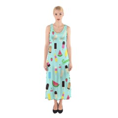Summer Pattern Sleeveless Maxi Dress