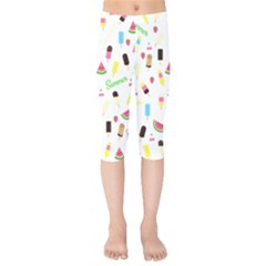 Summer Pattern Kids  Capri Leggings