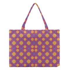 Colorful Geometric Polka Print Medium Tote Bag