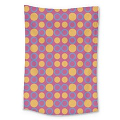 Colorful Geometric Polka Print Large Tapestry