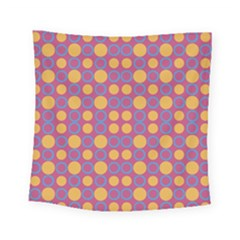 Colorful Geometric Polka Print Square Tapestry (small)