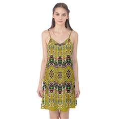 Rainbow And Stars Coming Down In Calm  Peace Camis Nightgown