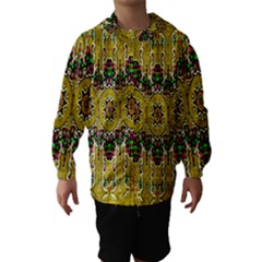 Rainbow And Stars Coming Down In Calm  Peace Hooded Wind Breaker (kids)