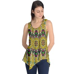Rainbow And Stars Coming Down In Calm  Peace Sleeveless Tunic