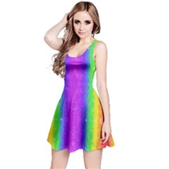 Striped Painted Rainbow Reversible Sleeveless Dress