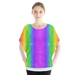 Striped Painted Rainbow Blouse