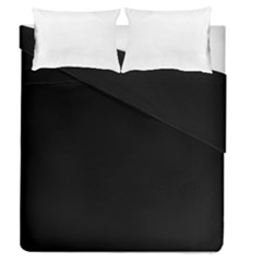 Simply Black Duvet Cover Double Side (queen Size)