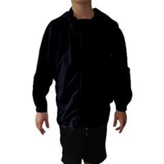 Simply Black Hooded Wind Breaker (kids)