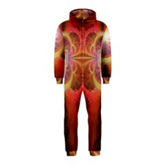 Liquid Sunset, A Beautiful Fractal Burst Of Fiery Colors Hooded Jumpsuit (kids)