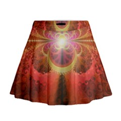 Liquid Sunset, A Beautiful Fractal Burst Of Fiery Colors Mini Flare Skirt