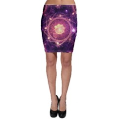 A Gold And Royal Purple Fractal Map Of The Stars Bodycon Skirt