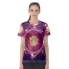 A Gold And Royal Purple Fractal Map Of The Stars Women s Sport Mesh Tee