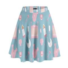 Baby Girl Accessories Pattern Pacifier High Waist Skirt