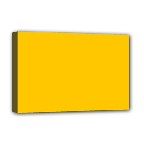 Amber Solid Color  Deluxe Canvas 18  X 12