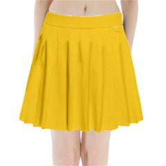 Amber Solid Color  Pleated Mini Skirt