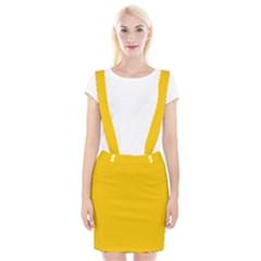 Amber Solid Color  Braces Suspender Skirt