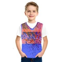 Glitchdrips Shadow Color Fire Kids  Sportswear