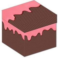 Ice Cream Pink Choholate Plaid Chevron Storage Stool 12