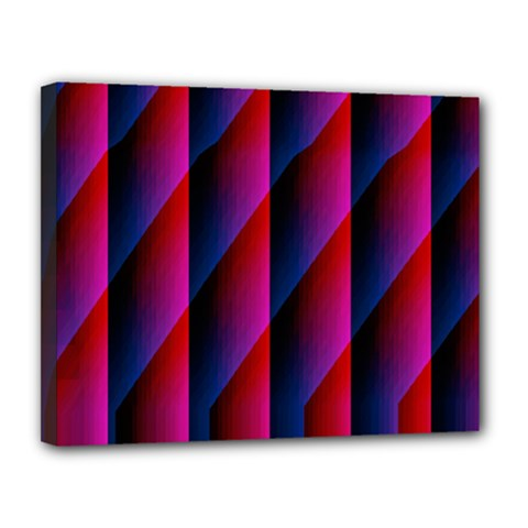 Photography Illustrations Line Wave Chevron Red Blue Vertical Light Canvas 14  X 11