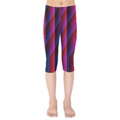 Photography Illustrations Line Wave Chevron Red Blue Vertical Light Kids  Capri Leggings