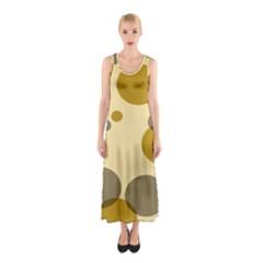Polka Dots Sleeveless Maxi Dress