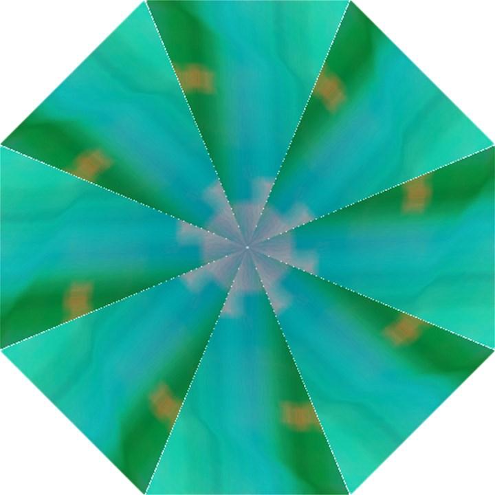 Shadow Faintly Faint Line Green Folding Umbrellas