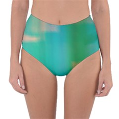 Shadow Faintly Faint Line Green Reversible High Waist Bikini Bottoms