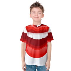 Smile Lips Transparent Red Sexy Kids  Cotton Tee