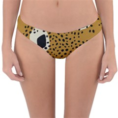 Surface Patterns Spot Polka Dots Black Reversible Hipster Bikini Bottoms
