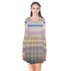 Shadow Faintly Faint Line Included Static Streaks And Blotches Color Flare Dress