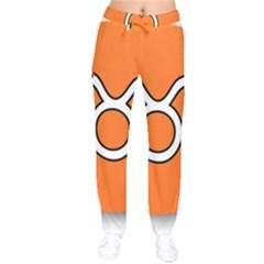 Taurus Symbol Sign Orange Drawstring Pants