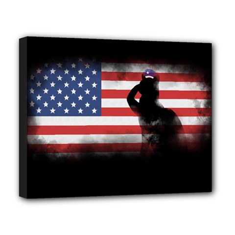 Honor Our Heroes On Memorial Day Deluxe Canvas 20  X 16