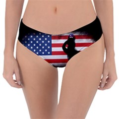 Honor Our Heroes On Memorial Day Reversible Classic Bikini Bottoms