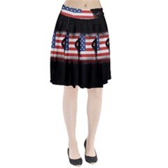 Honor Our Heroes On Memorial Day Pleated Skirt