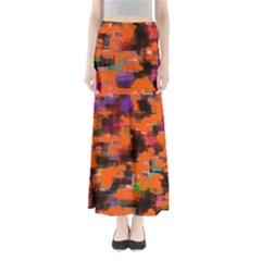 Orange Texture             Women s Maxi Skirt