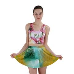 Turquoise River Mini Skirt